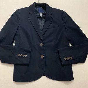J.Crew Navy Blue Cotton Blazer, Women's Size 6